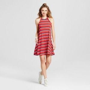 Mossimo red, white & blue Americana halter dress